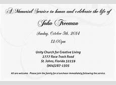 John Freeman Memorial Service Unity Church for Creative