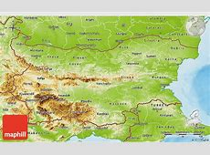 Physical 3D Map of Bulgaria