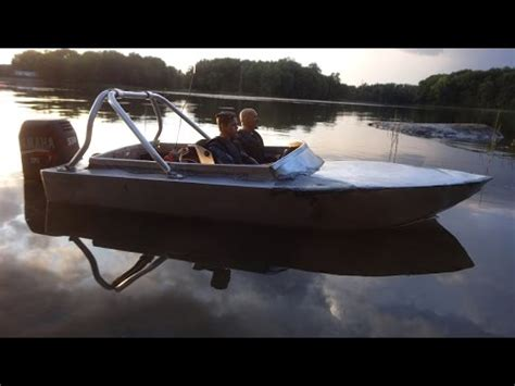 Speed Boat Trim Tabs by Aluminium 1 10 Scale Speed Boat 3rd Test Trim Tabs