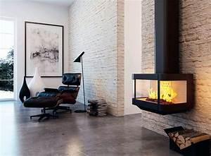 Cheminée Bois Design : cheminee suspendue godin ~ Premium-room.com Idées de Décoration