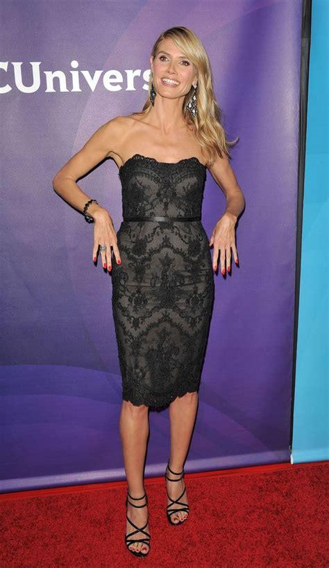 Mel Flashes Toned Legs Heidi Klum Shows Off Major