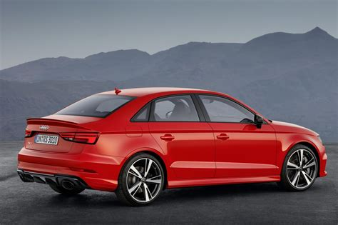fast 4 door cars audi s fast four door returns new rs3 saloon unveiled by