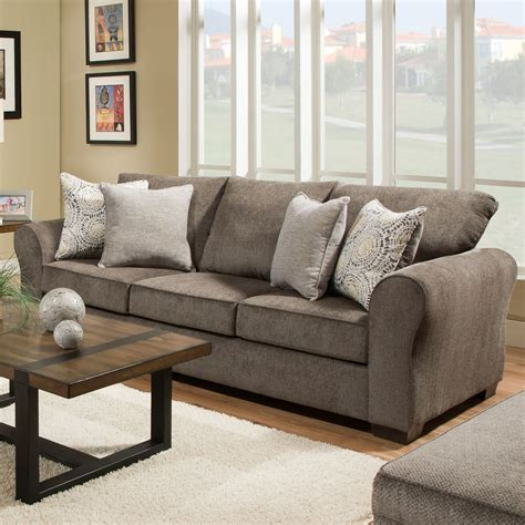 Sofa Industry by United Furniture Industries 1657 1657 03 Casual Sofa With