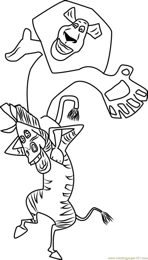 friend alex  marty coloring page  madagascar