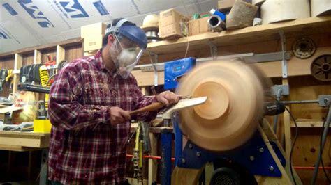 woodturning  grain  pine bowl part   bottom