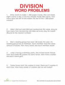 4th Grade Division Word Problems