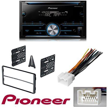pioneer fh s500bt din bluetooth in dash cd am fm car stereo receiver w pandora and