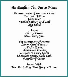 Here's our suggestion for a traditional English tea party ...