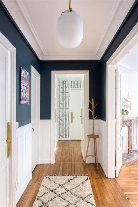 couloir astuces deco peinture papier peint