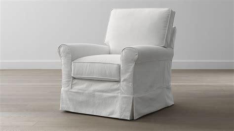 slipcover for glider rocking chair harborside slipcovered swivel glider crate and barrel