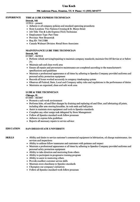 lube tire technician resume samples velvet jobs