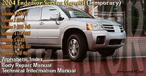 Mitsubishi Endeavor 2004 Service Manual Repair Manual Order  U0026 Download