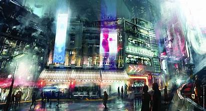 Cyberpunk Desktop Wallpapers Background Anime Futuristic Cityscape