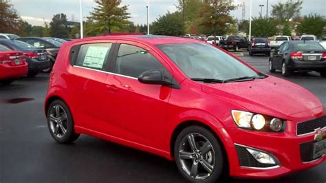 chevrolet sonic rs hatchback red hot burns cadillac