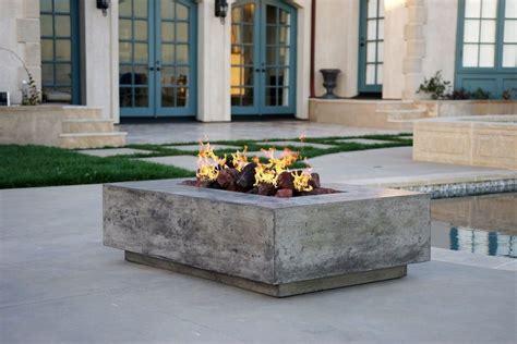 concrete fire pit patio transitional  outdoor living