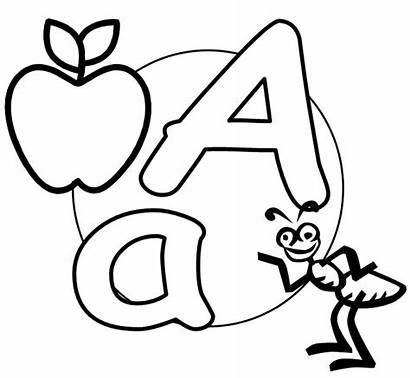 Letter Alphabet English Coloring Printable Letters Capital