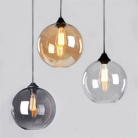 glass globe pendant light modern vintage pendant ceiling light glass globe lshade