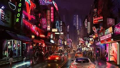 Future Cyberpunk Neon 4k Futuristic Wallpapers Desktop
