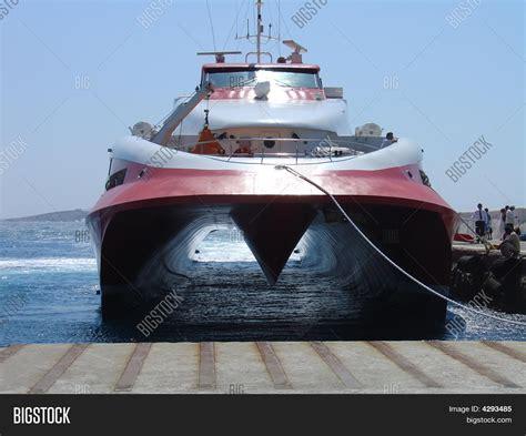 Hydrofoil Boat by Hydrofoil Ferry Image Photo Bigstock