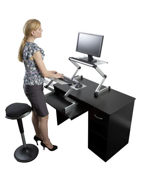 raised desk for standing uncaged ergonomics workez standing desk review work