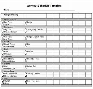 workout schedule template 27 free word excel pdf With fitness program template free download
