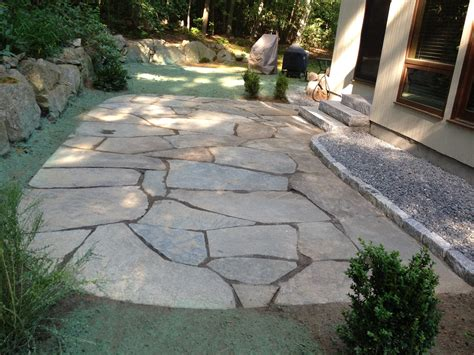 bluestone patio manning tree landscape