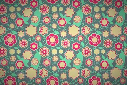 Retro Floral Intense Patterns Wallpapers Colorful Seamless