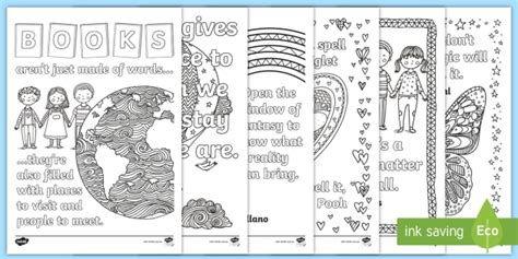 book quotes mindfulness colouring pages book week