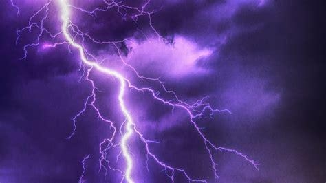 purple lightning 6k uhd wallpaper