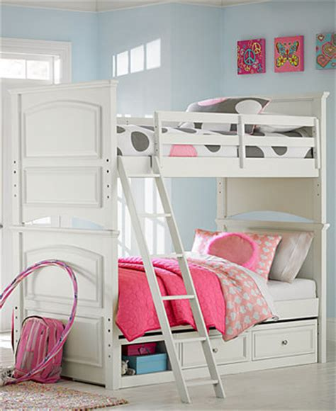 Roseville Twin Over Twin Kids Bunk Bed  Furniture Macy's
