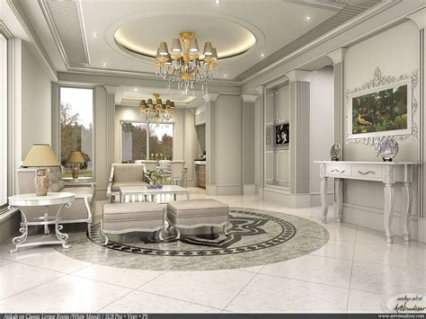 A Stylish Apartment With Classic Design Features : Depositphotos Interior Design Scene With A Classic White