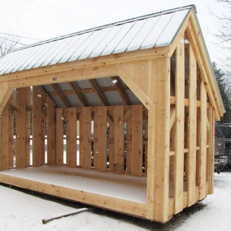 Firewood Shed Kit by 6x14 Woodbin Alternating Siding