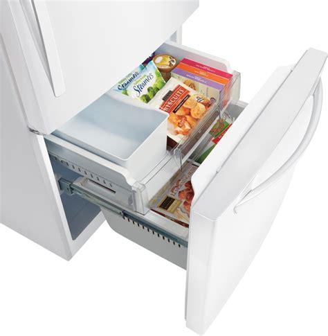 bottom drawer freezer lg ldcs24223w 33 inch bottom freezer refrigerator with