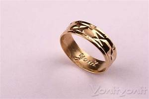Wedding Band Classy unique Gold Ring, simple engagement ...