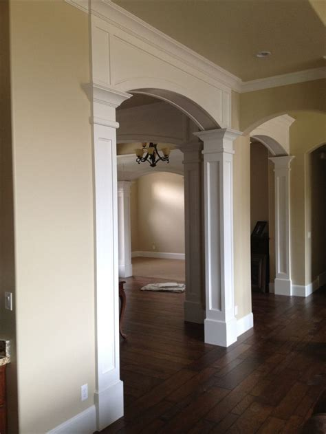 pin  sandy odom  cased openings arched doors house