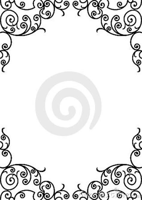 decorative black  white border stock images image