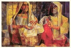 "Vicente Manansala, ""Balut Vendor by Vicente Manansala,"" n ..."