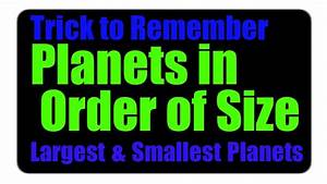 The Smallest And Largest Planets in the Solar System ...