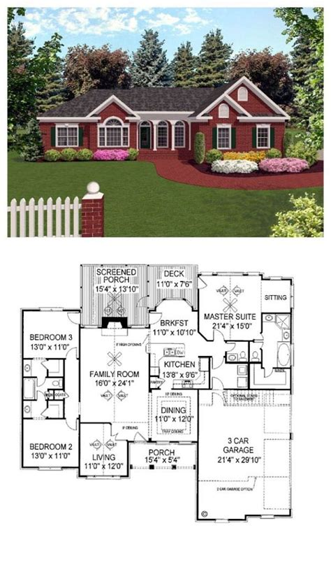 traditional style house plan    bed  bath