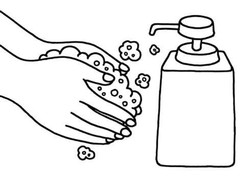 Hand Sink Coloring Sheets Hygiene Pages