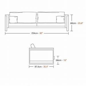 Buy boston sofa online 212concept for Sectional sofa height