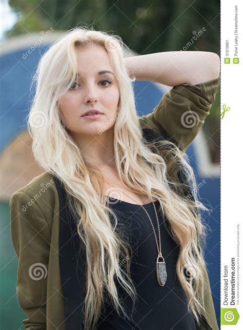 Young Woman With Blonde Hair Stock Image Image 31510801