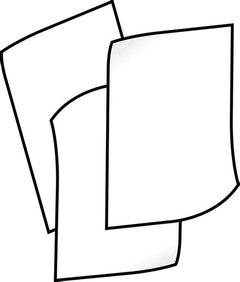 14791 paper clipart black and white clipart stack of white paper