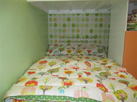 patterned wallpaper  glittering carpet  attic loft