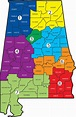 County Map Of Alabama   Time Zone Map