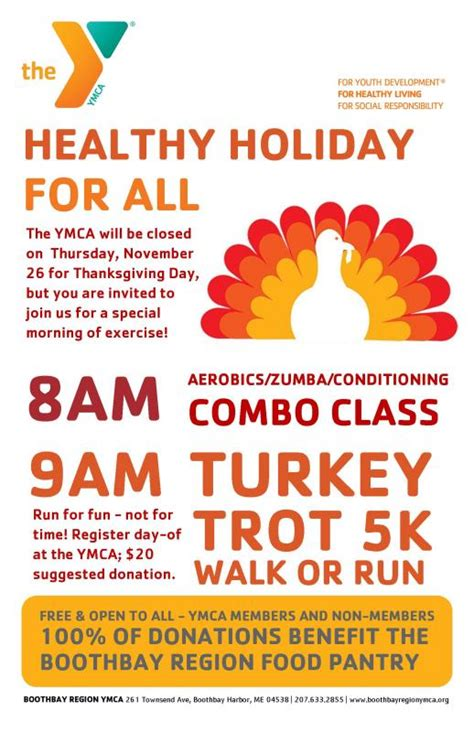 thanksgiving workout at the ymca boothbay register