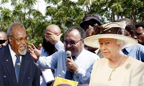 queen   forced  intervene  papua  guinea power