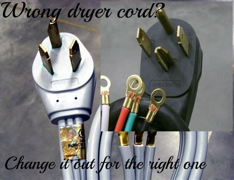 Changing Prong Dryer Plug Cord