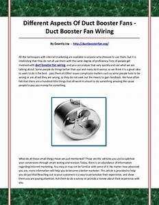 Duct Booster Fan Wiring