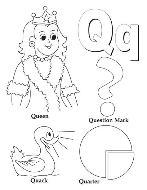 letter q coloring page printable coloring image